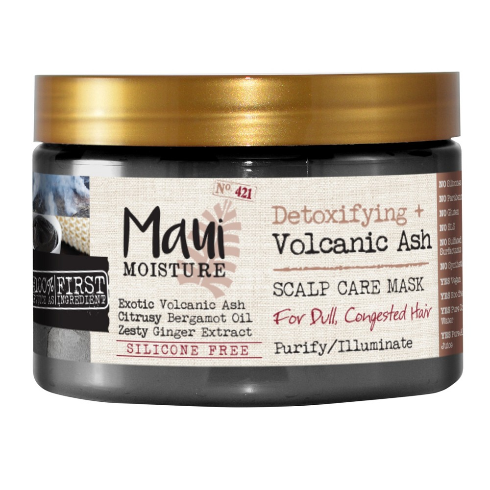 Image of Maui Moisture Detoxifying + Volcanic Ash Scalp Care Mask for Dull and Congested Hair - 12 fl oz