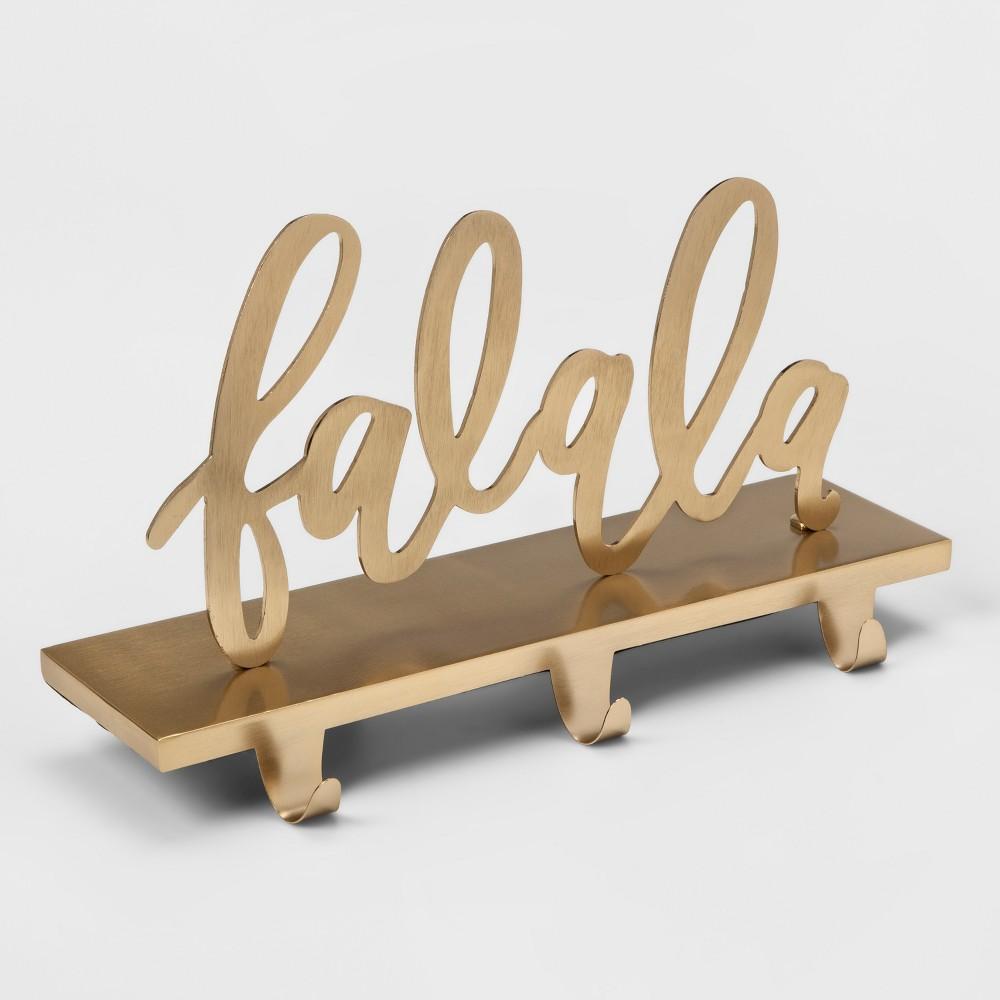 Stocking Holder Fa La La - Gold - Opalhouse