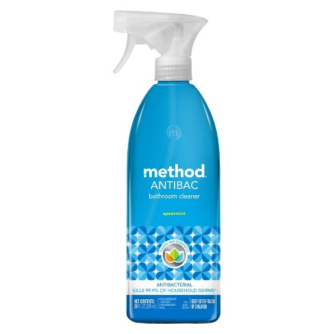Method Cleaning Products Antibacterial Bathroom Cleaner Spearmint Spray Bottle 28 Fl Oz Target