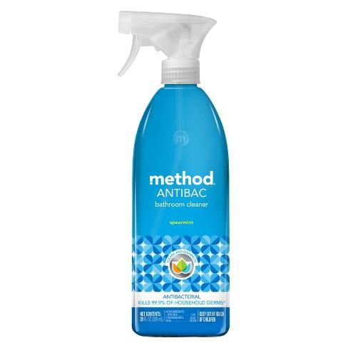 Method Antibacterial Bathroom Cleaner - Spearmint Spray Bottle - 28 fl oz - image 1 of 3