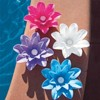 """Pool Master Set of 4 Floating Lotus Flower Tea Light Candle Holders 4-Pieces 9.75"""" - Vibrantly Colored - image 4 of 4"""