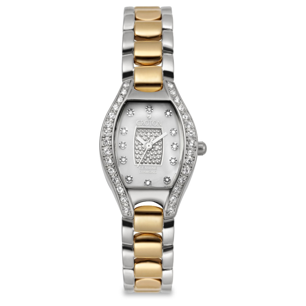 Women's Croton Analog Watch - Two Tone, Bright Gold & Silver
