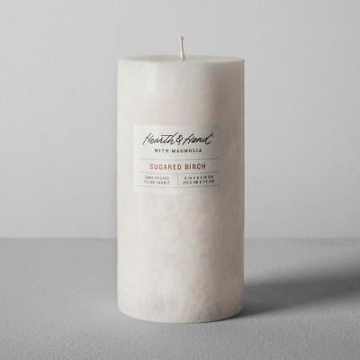 Pillar Candle (3 x6 )- Sugared Birch - Hearth & Hand™ with Magnolia