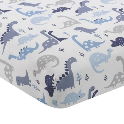 Bedtime Originals Baby Fitted Crib Sheet - Roar Dinosaur
