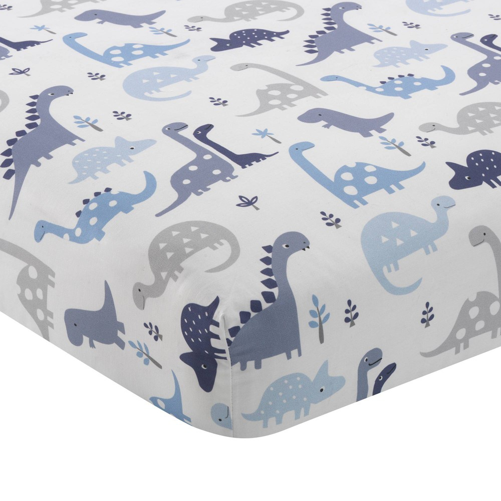 Image of Bedtime Originals Baby Fitted Crib Sheet - Roar Dinosaur