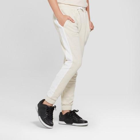 Boys' Knit Jogger Pants - art class™ White - image 1 of 5
