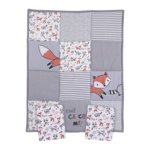 Fox Nursery Mini Crib Bedding Set 3pc