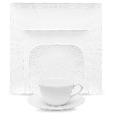 Noritake Cher Blanc 5-Piece Square Place Setting