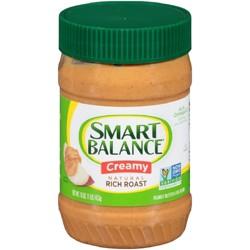 Smart Balance All Natural Rich Roast Creamy Peanut Butter - 16oz