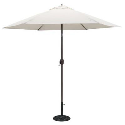 9' Round Crank Patio Umbrella - Canvas