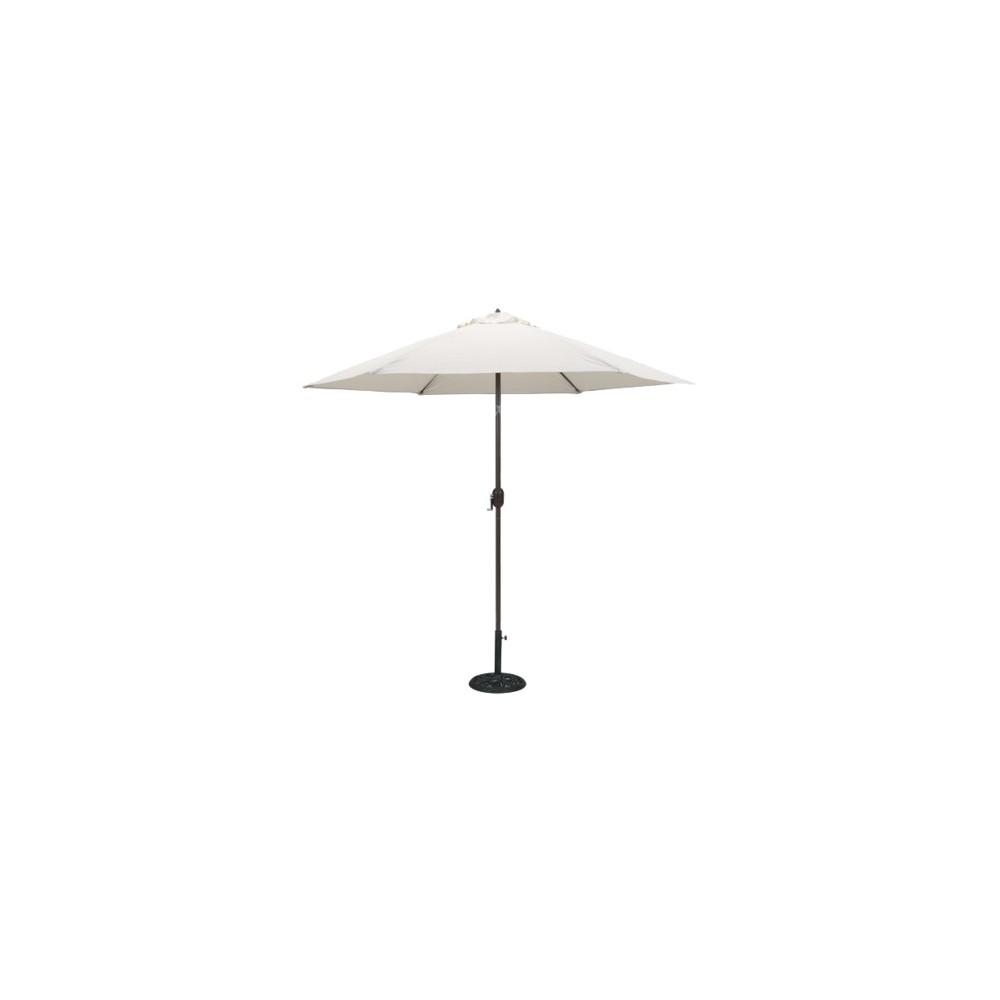 Image of 9' Round Crank Patio Umbrella - Canvas