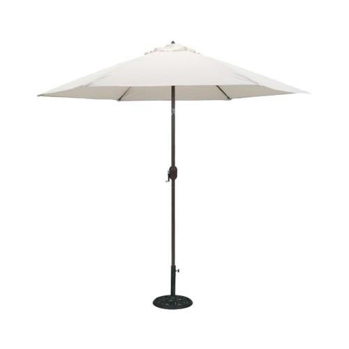 9' Round Crank Patio Umbrella - Canvas, Beige