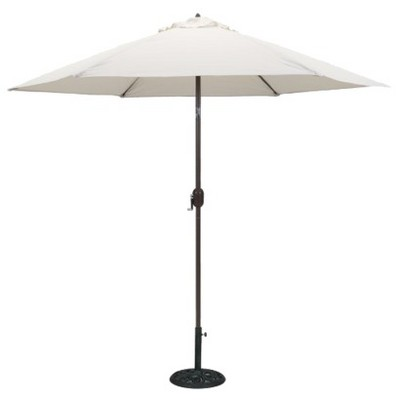 This item has 1 photo submitted from guests just like you!  sc 1 st  Target & 9u0027 Round Crank Patio Umbrella - Canvas : Target