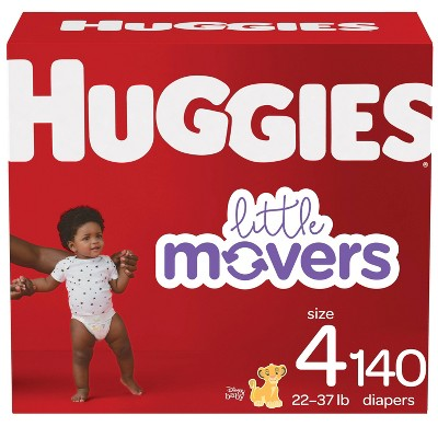 Huggies Little Movers Baby Disposable Diapers - Size 4 - 140ct