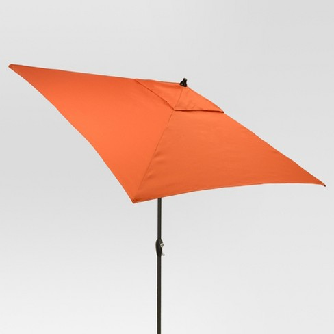 6.5' Square Umbrella - Coral - Black Pole - Threshold™ - image 1 of 1