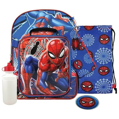 "Marvel Spider-Man 16"" Kids' Deluxe Backpack Set - 7pc"