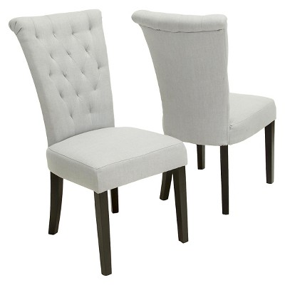 Set of 2 Venetian Dining Chair Light Gray - Christopher Knight Home