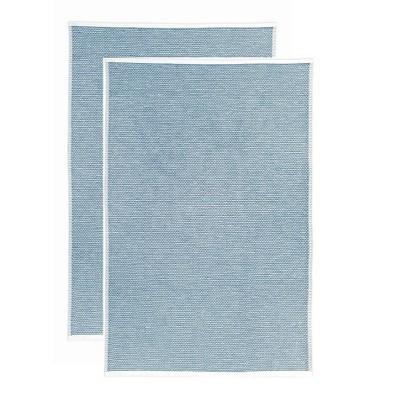 2pk Terry Honeycomb Kitchen Towels Classic Blue - MU Kitchen