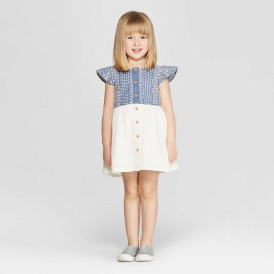 3716c75d65cc Genuine Kids® from OshKosh Toddler Girls  Eyelet A-Line Dress - White