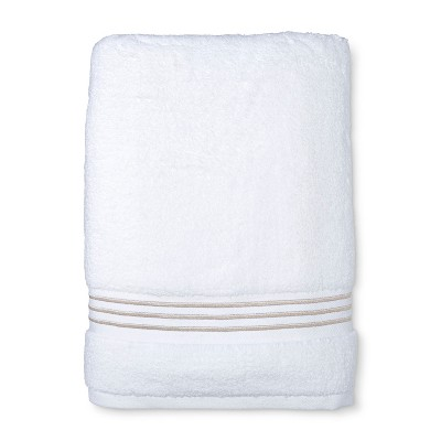 Spa Bath Towel Tan Stripe - Fieldcrest®