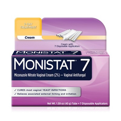 MONISTAT 7-Dose Yeast Infection Treatment, 7 Disposable Applicators & 1 Cream Tube
