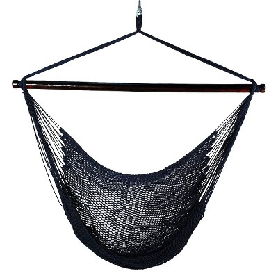 Outdoor Hanging Caribbean Rope Chair - Navy