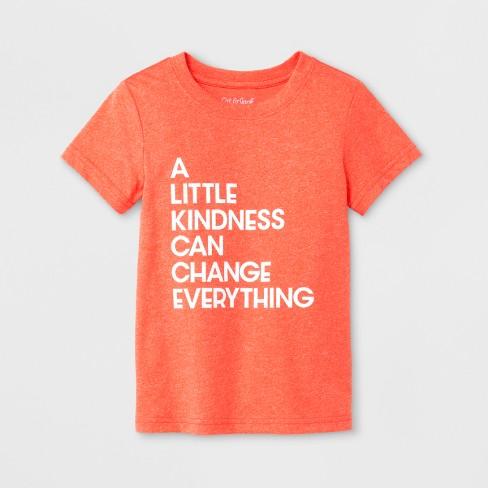 toddler boys kindness short sleeve t shirt cat jack orange