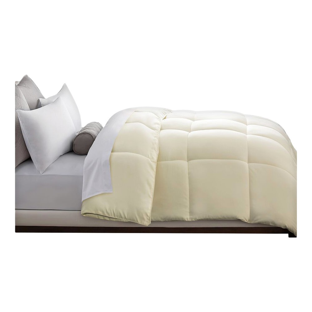 Image of Microfiber Down Alternative Comforter (Full/Queen) Ivory