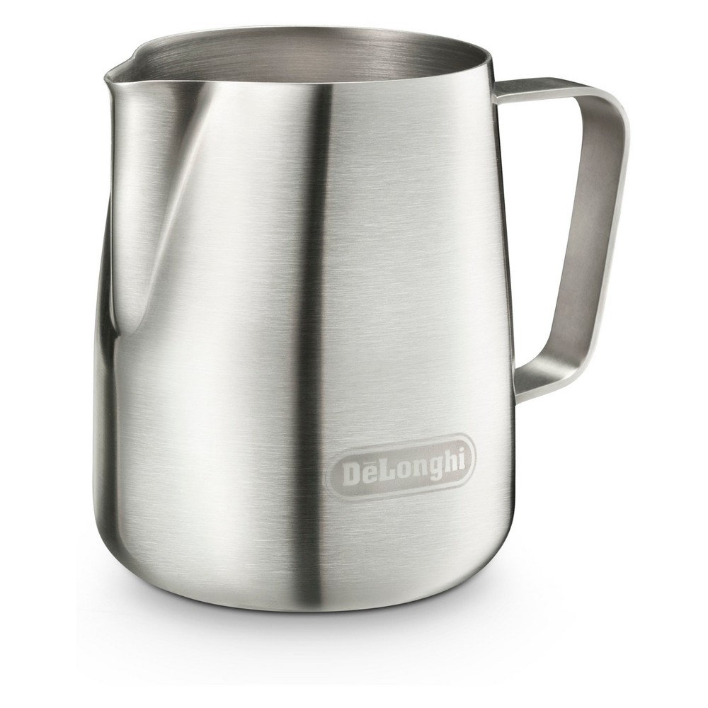 DeLonghi 13.5 fl oz Milk Frothing Pitcher – Stainless Steel (Silver) 53804681