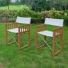 2pk Teak Westport Folding Director Chairs - Cambridge Casual - image 2 of 4
