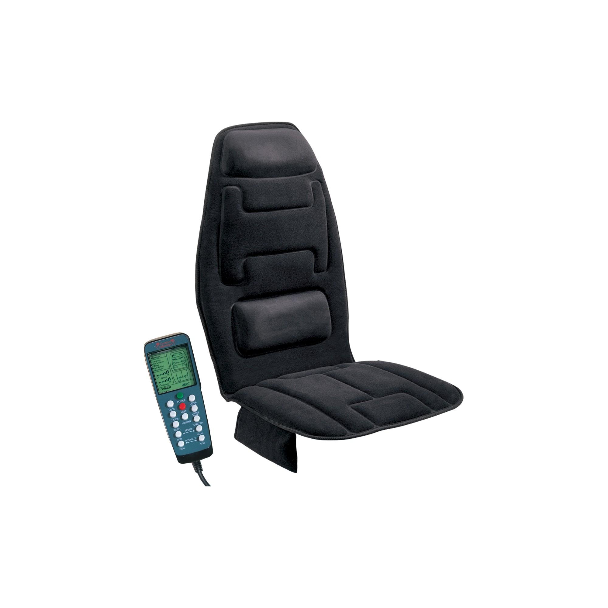 10-Motor Massaging Cushion with Heat, Black