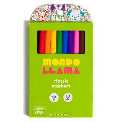 10ct Fine Tip Markers - Mondo Llama™