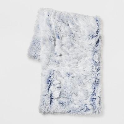 Blue Bottom Printed Shaggy Plush Throw - Room Essentials™