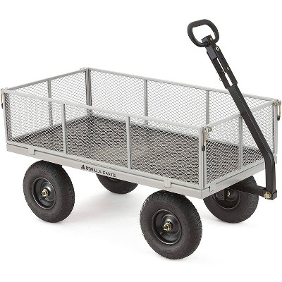 Gorilla Carts Heavy Duty Steel Utility Cart with Removable Sides and Pneumatic Tires Capacity