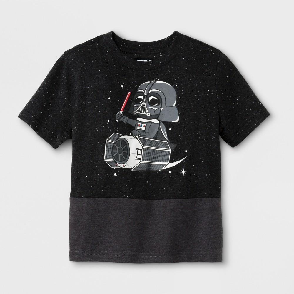 Toddler Boys' Star Wars Darth Vader Short Sleeve T-Shirt - Black 5T