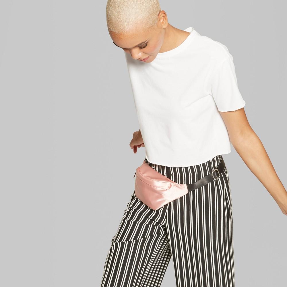 Women's Short Sleeve Boxy Cropped T-Shirt - Wild Fable White Xxl