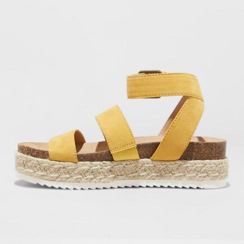 82b178ac7531 Women s Agnes Quarter Strap Espadrille Sandals - Universal Thread™ Yellow 7    Target
