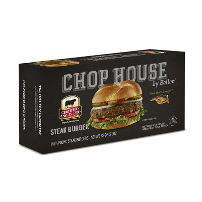 Chop House by Holten Angus Beef Steak Burgers - Frozen - 2lbs/6ct