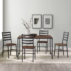 5pc Industrial Angle Iron Dining Set - Saracina Home