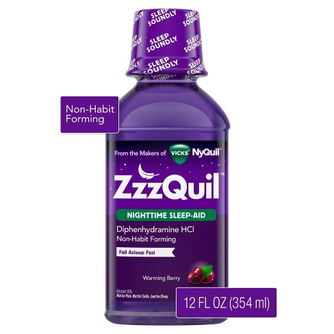 ZzzQuil Nighttime Sleep-Aid Liquid - Diphenhydramine HCl - Warming Berry Flavor - image 1 of 4