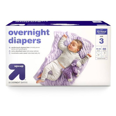 Overnight Diapers Size 3 - 88ct - up & up™