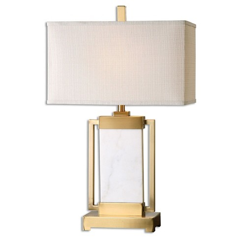 Marnett White Marble Table Lamp Lamp Only Target