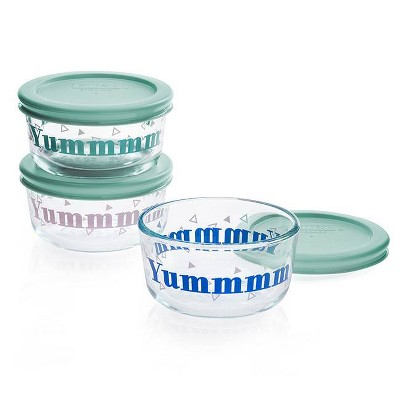 Pyrex 6pc Round Food Storage Container - Yummmmm