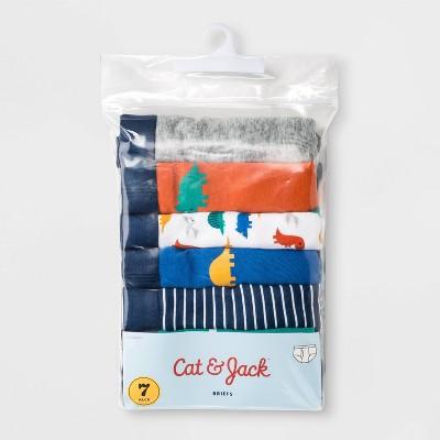 Toddler Boys' 7pk Dino Print Boxer Briefs - Cat & Jack™ Blue 2T-3T