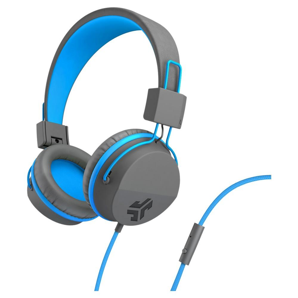 Jlab Jbuddies Studio Wired Kids Headphones Gray Blue