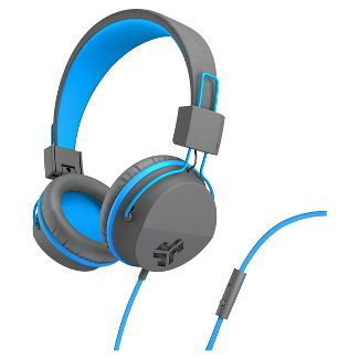 JLab JBuddies Studio Wired Kids Headphones - Gray/Blue