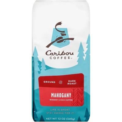 Caribou Coffee Mahogany Dark Roast Ground Coffee - 12oz