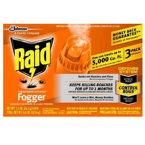 Raid Fogger Concentrated - 3pk/1.05oz - image 1 of 4