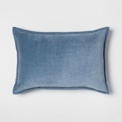 Blue Velvet Lumbar Throw Pillow - Threshold™