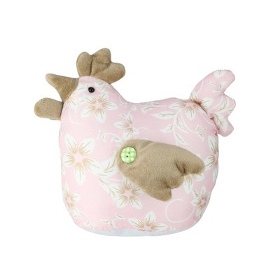 "Northlight 8"" Floral Easter Hen Spring Decoration - Pink/Brown"
